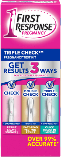 FIRST RESPONSE Triple Check Pregnancy Test